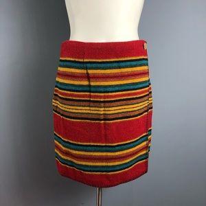Vintage 90s express indian blanket skirt